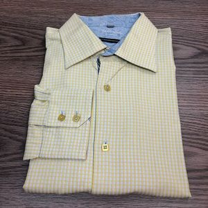 Visconti Yellow & Blue Check Shirt XL